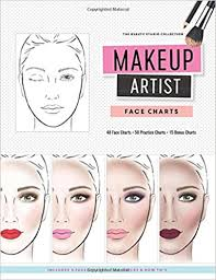 makeup artist face charts the beauty studio collection gina m reyna 9781522744504 amazon books