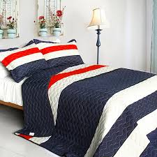 navy and white quilt. Interesting White Navy Blue Red White Striped Teen Bedding FullQueen Quilt Set Oversized  Bedspread And