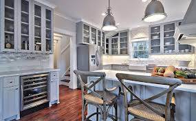 image of cool grey kitchen cabinets