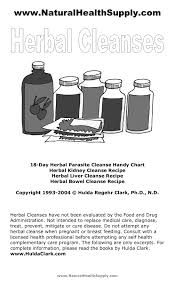 Hulda Clark Frequency Chart Www Naturalhealthsupply Herbal Parasite Cleanse By Hulda
