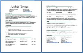 Gallery Of 2 Page Resume Template Two Page Resume Format Online 6216