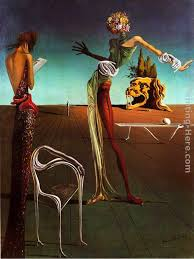 woman with a head of roses painting salvador dali woman with a head of roses