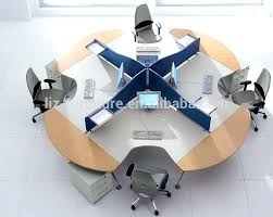 circular office desks. Enchanting Round Office Desk In Modern Workstation 4 Person Circular Desks E