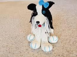 Border Collie Knitting Chart Crochet Border Collie Dog Helenmay Crochet