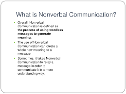 nonverbal powerpoint presentation  nonverbal communication<br > 2