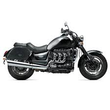 triumph rocket iii roadster motorcycle saddlebags warrior leather