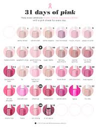 Essie Color Chart Celebrate Breast Cancer Awareness Month With Essies Pink