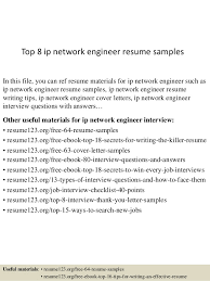 top 8 ip network engineer resume samples in this file you can ref resume materials resume samples for network engineer