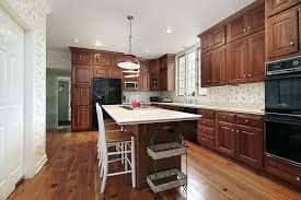 Light cherry cabinets kitchen bing images hardware. 43 Kitchens With Extensive Dark Wood Throughout Home Stratosphere