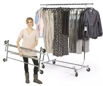 Commercial Coat Racks On Wheels Clothing Garment Racks Rolling Stationary 45