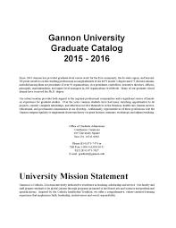 Gannon University Graduate Catalog 2015 2016 By Gannon University