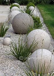 Stone Ball Garden Decoration Simple Cool And Unique DIY Garden Globes Gardens With Stone Pinterest