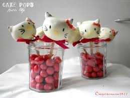 How To Make Hello Kitty Cake Pops Red Ted Art