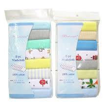 8pcs/pack 100% Cotton <b>Newborn Baby Towels Saliva Towel</b> ...