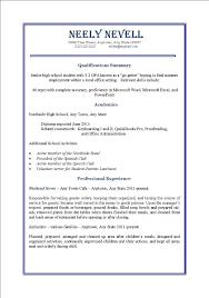 Format Resume Format For Part Time Job