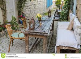 tables and chairs in cafe or restaurants outside stock photo table piece furniture flat 114780056 metal garden for patio nz gumtree glasgow outdoor