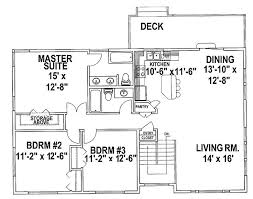 charming 3 bedroom split level house plans r54 in simple interior and exterior ideas with 3