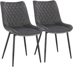 2er Set Küchenstühle Aus Samt Im Modernen Design