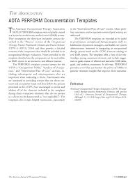 Aota Perform Documentation Templates American Journal Of