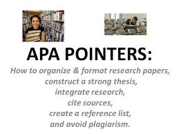 apa pointers how to organize format research papers ppt  apa pointers how to organize format research papers