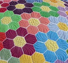 garden quilt. Modern Grandmothers Flower Garden Applique Quilt Pattern