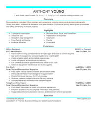 resume samples  the ultimate guide   livecareeroffice assistant resume example