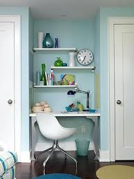 tiny home office ideas. Enchanting White Door On Pastel Blue Wall Paint And Floating Shelf In Small Home Office Ideas With Style Shelving Units Tiny