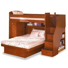 image of twin bunk beds with stairs large