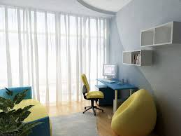 Simple small home office design Interior Interior Designs For Small Homes Combined With Corner Home Office Below White Simple Hanging Cabinet Also Yellow Unqie Chair Over Laminate Floor Also Bon Vivant Baby Interior Interior Designs For Small Homes Combined With Corner Home