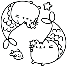 Remarkable Cute Cat Coloring Pages Cute Cat Pictures To Color The