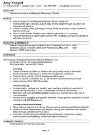 Get Sample School Counselor Resume Best Resume Collection Www