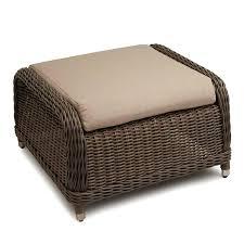 round wicker ottoman ottoman coffee table top rattan wick a round wicker storage ottoman with cushion