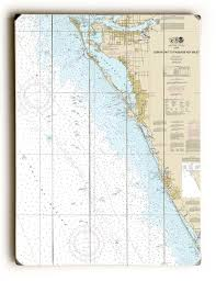 Sarasota Bay Nautical Chart Fl Lemon Bay To Passage Key Inlet Bradenton Sarasota Fl Nautical Chart Sign