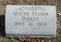 "Martha Felker ""Mattie"" Fulcher Dudley (1865-1956) - Find A Grave ..."
