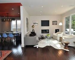 cowhide living room ideas photos houzz metallic cowhide rug living room modern living room idea in