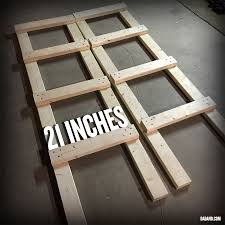 partial assembly of freestanding diy 2x4 shelves storage shelving for basement garage or