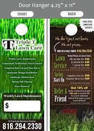 Lawn Service Door Hangers Landscaping Door Hangers Lawn Care And