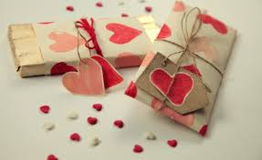 homemade valentine gifts wrapping ideas paper heart stamps