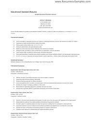Resume Special Education Instructional Assistant Piqqus Com