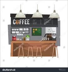 Coffee Bar Design Coffee Bar Coffee Shop Design Flat Stock Vector Royalty