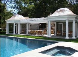 open pool house. Swimmingly Beautiful Pool Houses - The Enchanted Home Intended For Open House Designs 1822