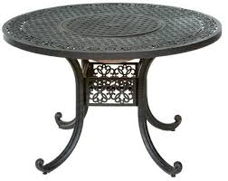 48 inch patio table set 5 piece with firepit and ice bucket