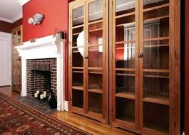 dark wood bookcase with glass doors furniture billy bookcase with glass doors dark blue throughout bookshelves