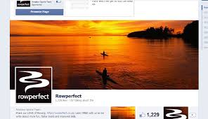 facebook profile page with cover photo.  Facebook Screenshot Of Rowperfect Facebook Page On Profile Page With Cover Photo