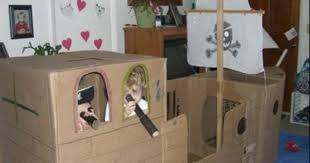 cardboard boxes pirate ship