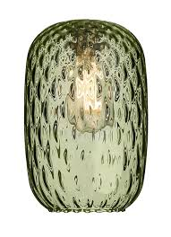 david hunt vidro small green dimpled glass pendant lamp shade