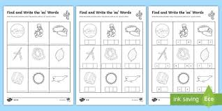 Phonics cut and paste worksheets for kindergarden to practice alphabets and sounds. Ea Words Phonics Differentiated Worksheets