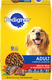 Pedigree Adult Complete Nutrition Grilled Steak Vegetable Flavor Dry Dog Food 17 Lb Bag