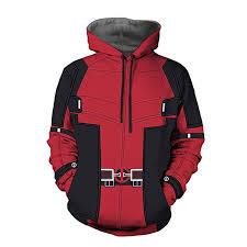Deadpool Hoodie 3d Print Jackets Cosplay Costume Wade Wilson