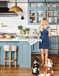 blue kitchen designs. Inside Julianne Hough\u0027s L.a. Home | Glass Front Cabinets, Baby Blue And Kitchens Kitchen Designs